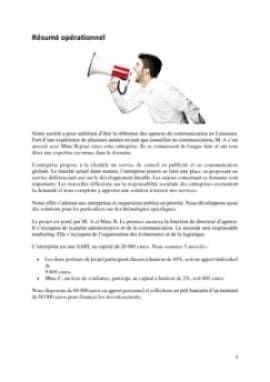 Business Plan Agence-de-communication Page 2