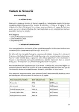 Business Plan Agence-de-voyage Page 10
