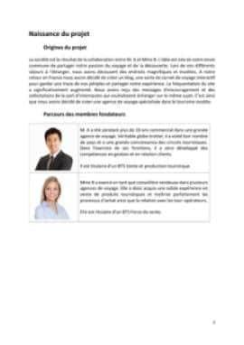 Business Plan Agence-de-voyage Page 3