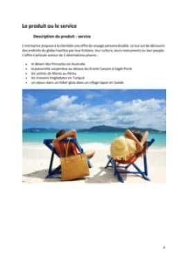 Business Plan Agence-de-voyage Page 4