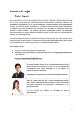 Business Plan Agence-evenementielle Page 3