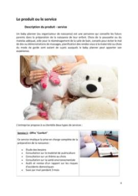 Business Plan Baby-planner-coach-parental Page 4