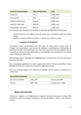 Business Plan Bar-a-sourire Page 12