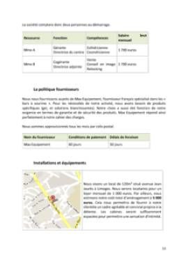 Business Plan Bar-a-sourire Page 13