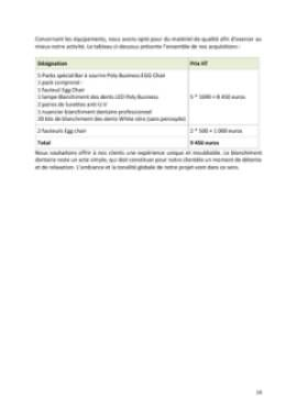 Business Plan Bar-a-sourire Page 14