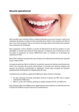 Business Plan Bar-a-sourire Page 2