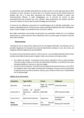 Business Plan Bar-a-sourire Page 9