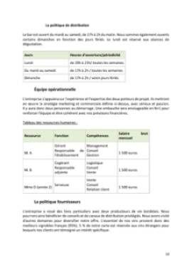 Business Plan Bar-a-theme-bar-a-vins Page 10