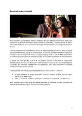 Business Plan Bar-a-theme-bar-a-vins Page 2