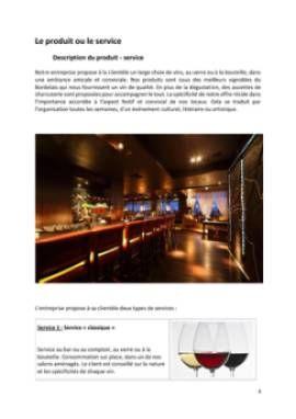 Business Plan Bar-a-theme-bar-a-vins Page 4