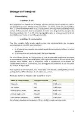 Business Plan Bar-a-theme-bar-a-vins Page 9