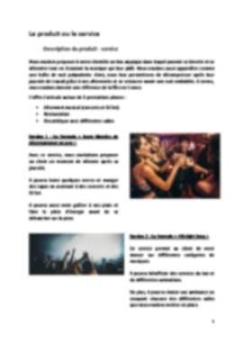 Business Plan Boite-de-nuit Page 5