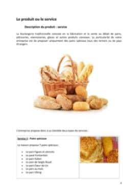 Business Plan Boulangerie-traditionnelle Page 4
