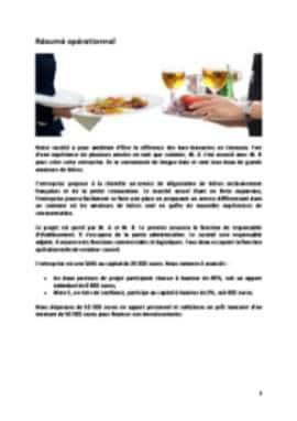 Business Plan Brasserie Page 2