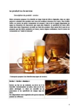 Business Plan Brasserie Page 4