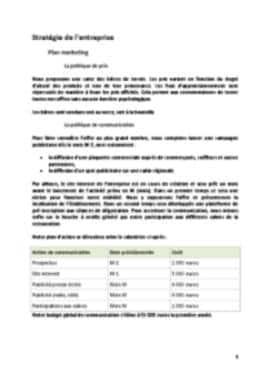 Business Plan Brasserie Page 9