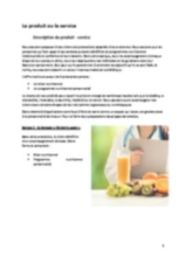 Business Plan Cabinet-de-dietetique Page 5