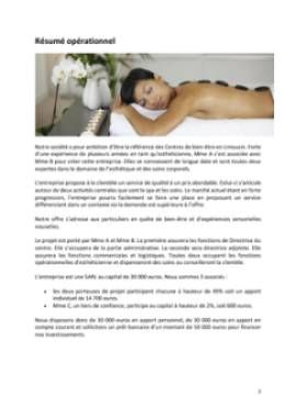 Business Plan Centre-de-bien-etre-spa Page 2