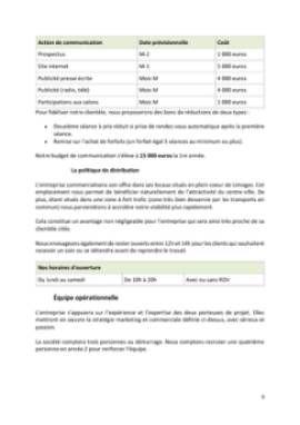 Business Plan Centre-de-bien-etre-spa Page 9
