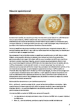 Business Plan Coffee-shop Page 2