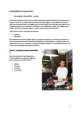 Business Plan Coffee-shop Page 5