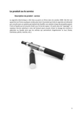 Business Plan Commerce-de-cigarettes-electroniques Page 4