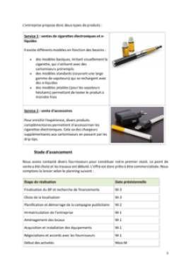 Business Plan Commerce-de-cigarettes-electroniques Page 5