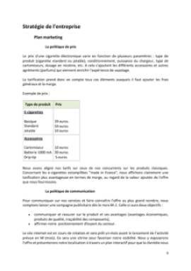 Business Plan Commerce-de-cigarettes-electroniques Page 9