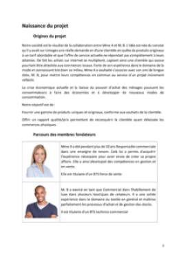 Business Plan Commerce-de-pret-a-porter Page 3