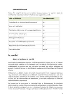 Business Plan Commerce-de-pret-a-porter Page 5