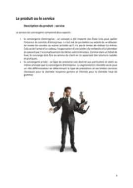 Business Plan Conciergerie-pour-particuliers-et-entreprises Page 4