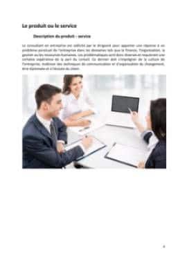 Business Plan Consultant-en-management-et-strategie-dentreprise Page 4