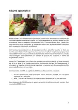 Business Plan Cours-de-cuisine-a-domicile Page 2