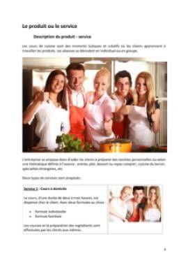 Business Plan Cours-de-cuisine-a-domicile Page 4
