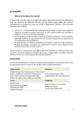 Business Plan Cours-de-cuisine-a-domicile Page 6