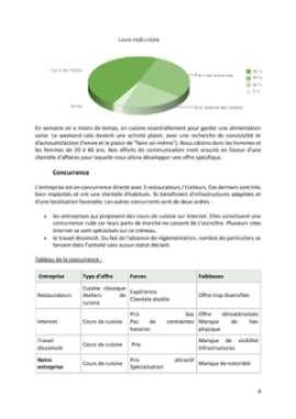 Business Plan Cours-de-cuisine-a-domicile Page 8
