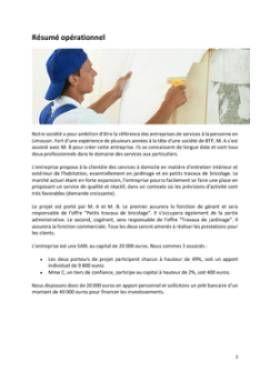 Business Plan Entreprise-de-bricolage-et-de-jardinage Page 2