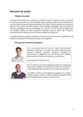 Business Plan Entreprise-de-bricolage-et-de-jardinage Page 3