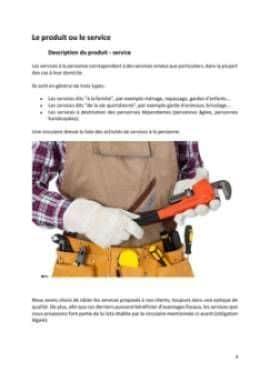 Business Plan Entreprise-de-bricolage-et-de-jardinage Page 4