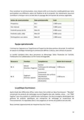 Business Plan Entreprise-de-nettoyage Page 10
