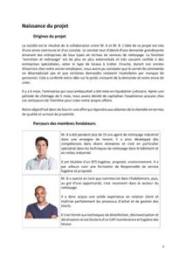 Business Plan Entreprise-de-nettoyage Page 3