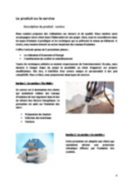 Business Plan Entreprise-isolation Page 4