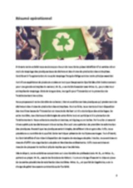 Business Plan Entreprise-recyclage Page 2