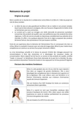Business Plan Epicerie-fine Page 3
