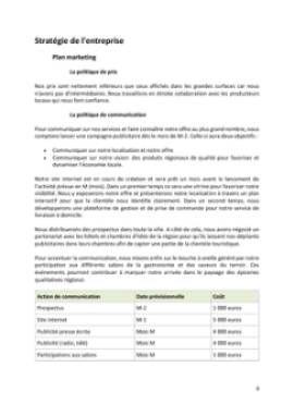 Business Plan Epicerie-fine Page 8
