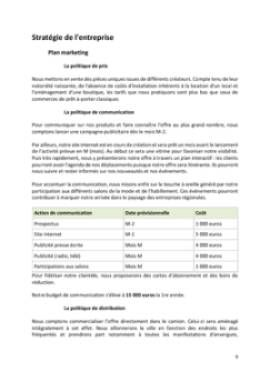Business Plan Fashion-trucks-camions-vetements Page 9