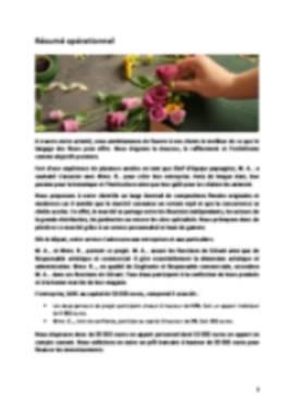 Business Plan Fleuriste Page 2