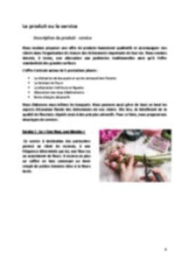 Business Plan Fleuriste Page 4