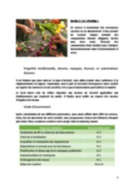 Business Plan Fleuriste Page 5