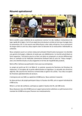 Business Plan Food-trucks Page 2